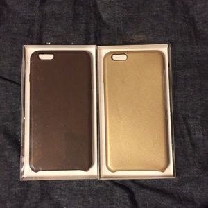 Other - Two brand new leather iPhone 6 Plus case.